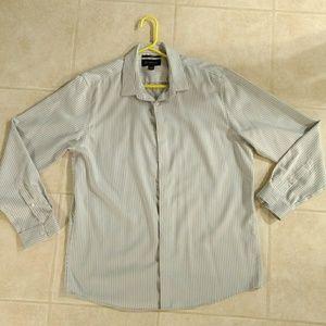 INC men's gray and white dress shirt XL 17-1/2